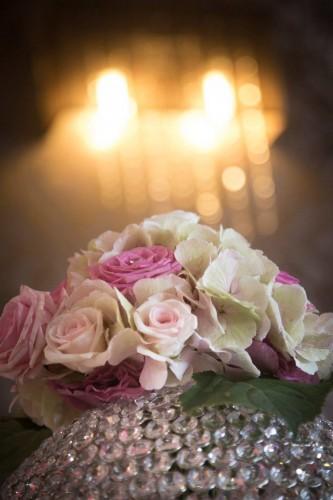 portfolio 9/22  - Decoração com flores em castiçal