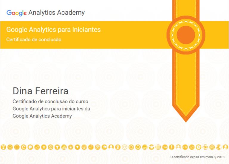portfolio 21/47  - Certificado da Google em Google Analytics