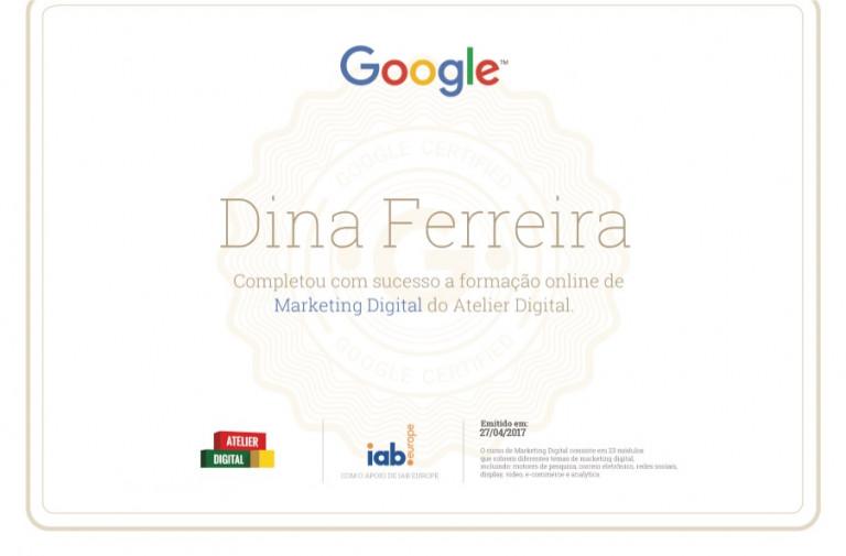portfolio 19/47  - Certificado da Google em Marketing Digital