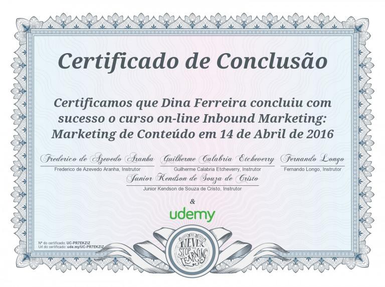 portfolio 29/47  - Certificado de Inbound Marketing