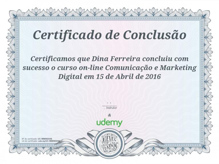 portfolio 28/47  - Certificado em Marketing Digital