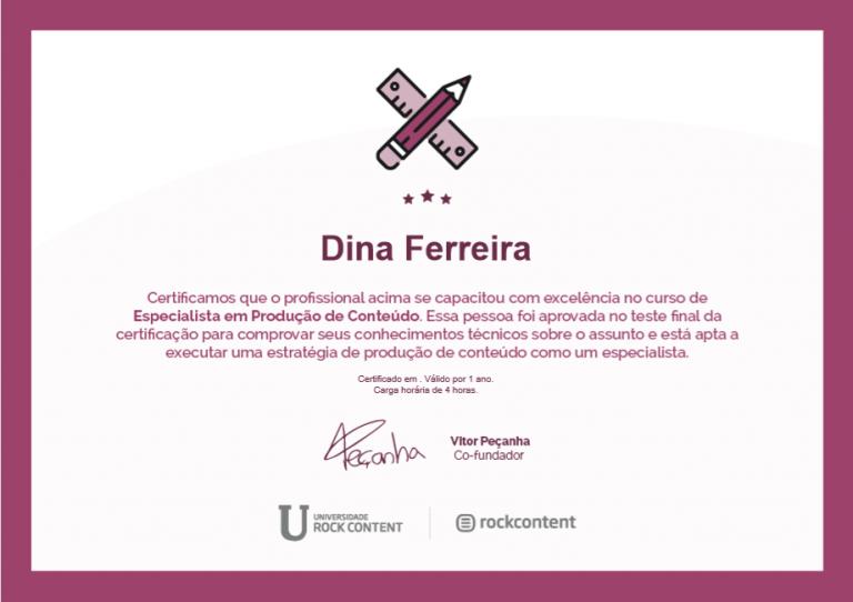 portfolio 20/47  - Certificado de Especialista em Produção de Conteúdo