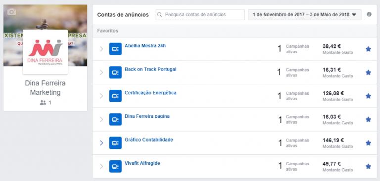 portfolio 17/47  - Gestão de contas de anúncios - Facebook Ads (Campanhas)