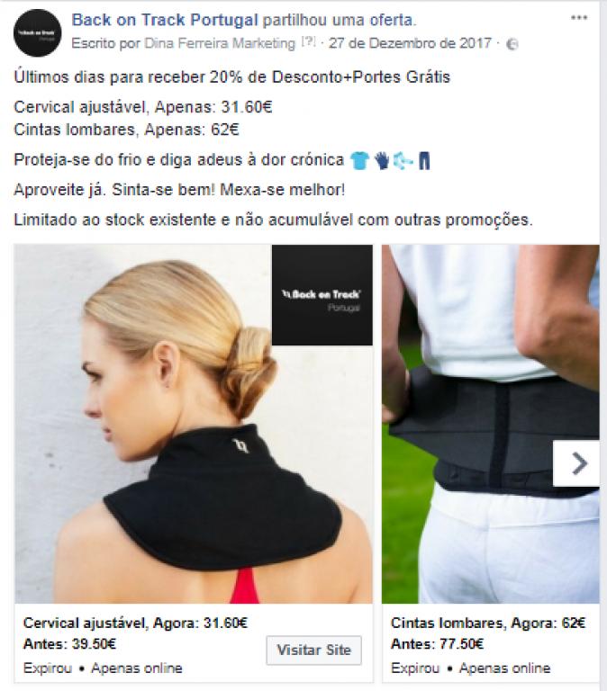 portfolio 16/47  - Campanha de Carrossel no Facebook - Back on Track