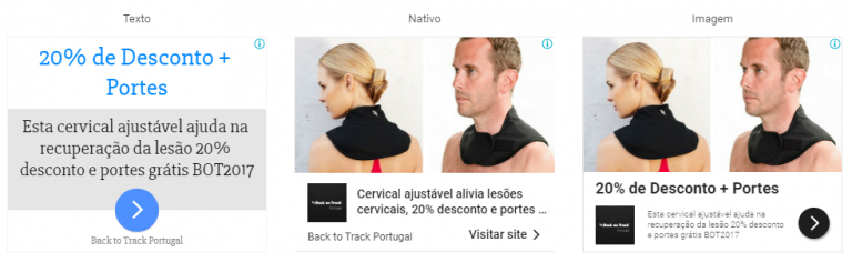 portfolio 10/47  - Campanha Adwords Imagens - Back on Track