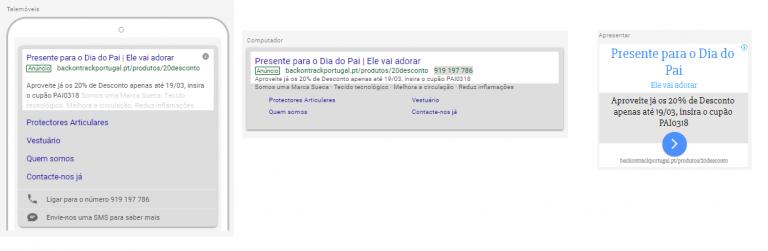 portfolio 9/47  - Campanha Adwords Texto - Back on Track