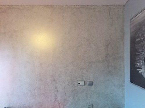 portfolio 29/37  - Parede base branca e patine prata