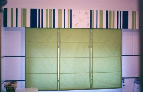 portfolio 22/37  - Sanefa madeira pintada em cozinha