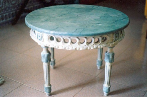 portfolio 17/37  - Mesa centro pintada a imitar marmoreado (reabilitada)