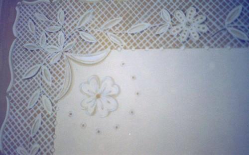 portfolio 15/37  - Pormenor de renda pintada em cabeceira cama