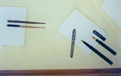 portfolio 6/37  - Sanca pintada (coleção de canetas particular)