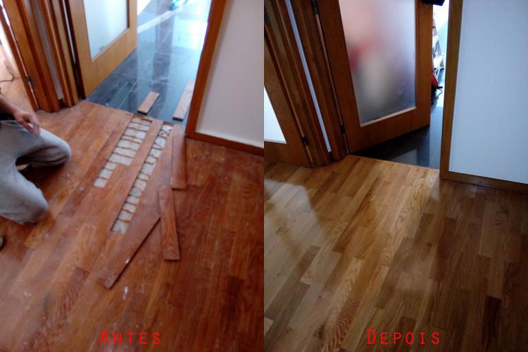 portfolio 40/119  - Reparação raspagem e envernizamento de chão parquet