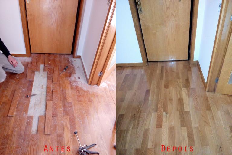 portfolio 39/119  - Reparação raspagem e envernizamento de chão parquet