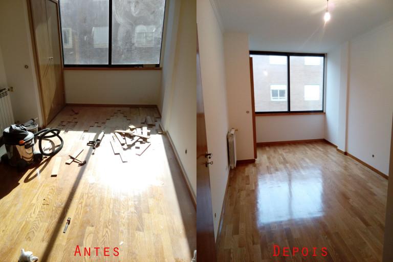 portfolio 38/119  - Reparação raspagem e envernizamento de chão parquet