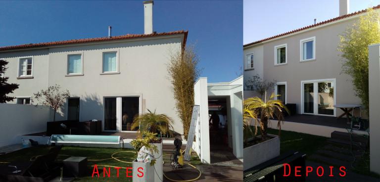 portfolio 67/119  - Reparação e pintura exterior de moradia com materiais da Cin