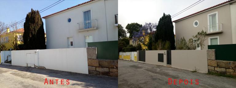 portfolio 66/119  - Reparação e pintura exterior de moradia com materiais da Cin