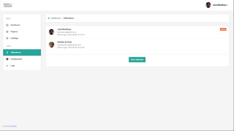 portfolio 2/5  - Backoffice Websites Utilizadores