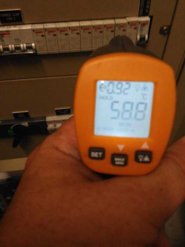 portfolio 10/10  - Verificações de temperatura com pirometro optico