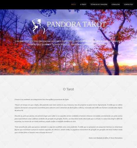 portfolio 6/17  - Webdesign - WordPress - pandoratarot.com