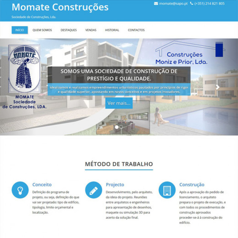 portfolio 3/17  - Webdesign - WordPress - momateconstrucoes.com