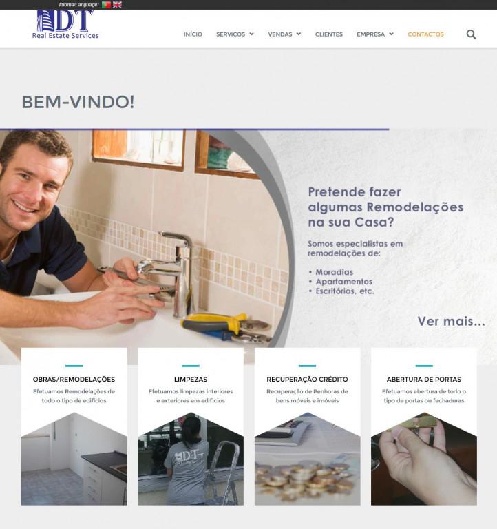 portfolio 1/17  - Webdesign - WordPress - dtservices.pt