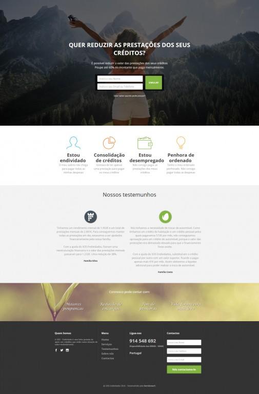 portfolio 1/10  - Landing Page da SOS Endividados. Objetivo: Captação de leads