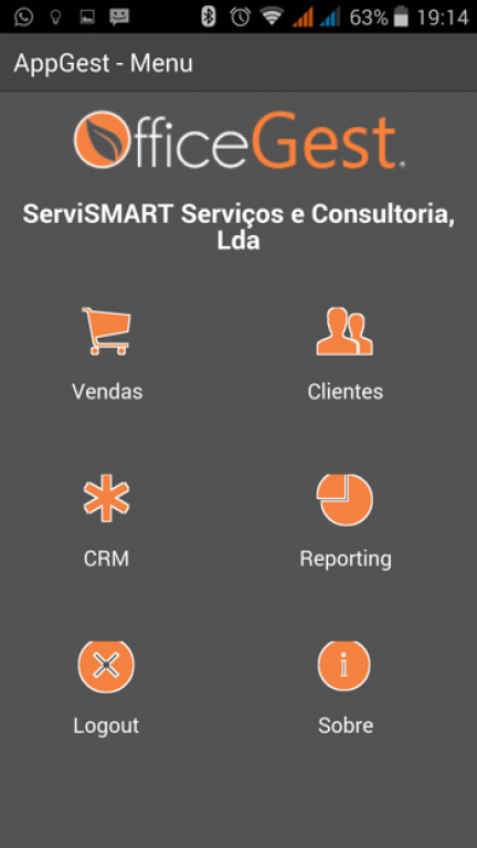 portfolio 9/10  - Aplicação Mobile com ligação ao software de gestão