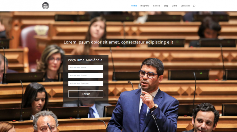 portfolio 5/10  - Website do político Pedro Pimpão