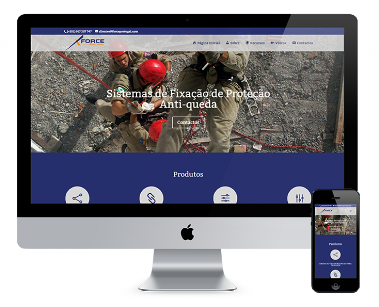 portfolio 4/7  - O site desenvolvido para a Force Portugal teve como objetivo principal criar um website profissional, para representar uma marca portuguesa com mais de 20 anos de atividade nas áreas da telecomunicação, energia eléctrica, edifícios, e outros.
