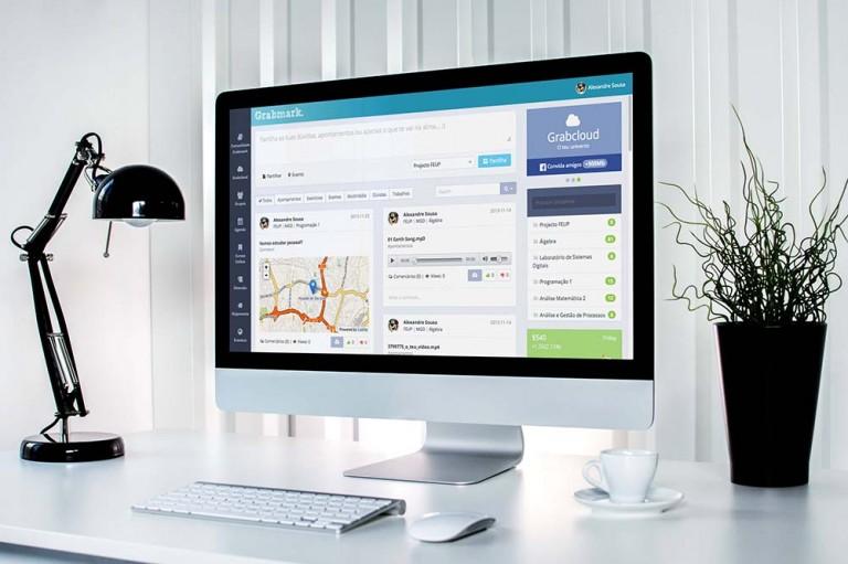 portfolio 11/19  - Desenvolvimento da grabmark.com - Rede Social de Estudo