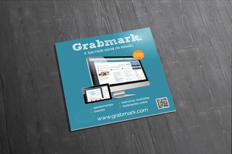 portfolio 9/19  - Design gráfico do flyer para a Grabmark
