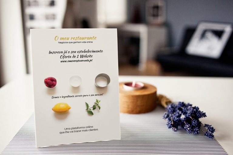 portfolio 7/19  - Flyer para O meu restaurante.pt