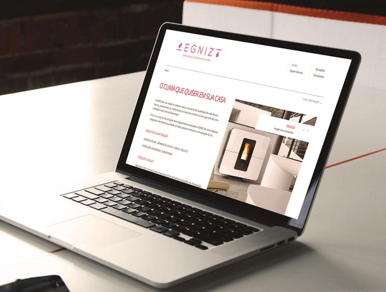 portfolio 5/19  - Website para a empresa EGNIZ