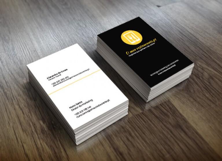 portfolio 1/19  - Cartões de Visita para O meu restaurante.pt
