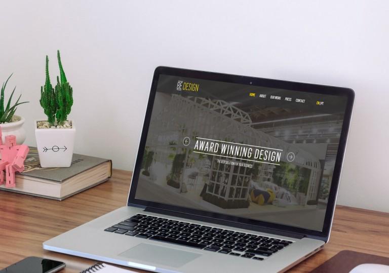 portfolio 2/19  - Website da empresa Be Design