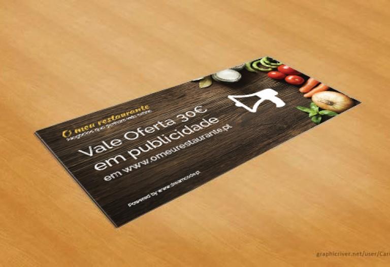 portfolio 16/19  - Design Gráfico vale de desconto O meu restaurante.pt