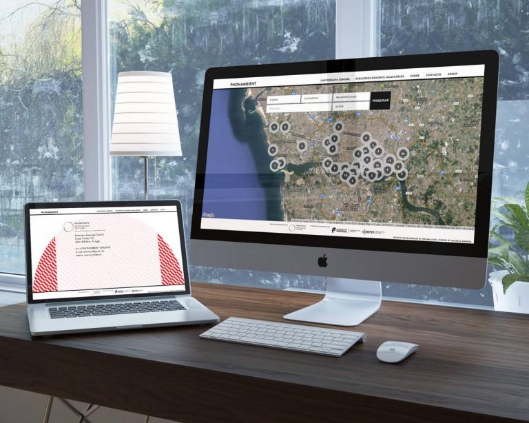 portfolio 15/19  - Phonambient - Plataforma web de georeferenciação sonora