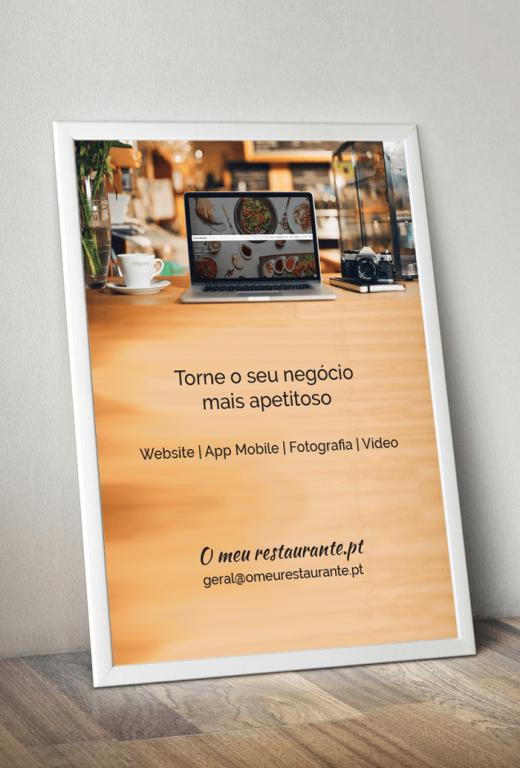 portfolio 13/19  - Design do cartaz - O meu restaurante.pt