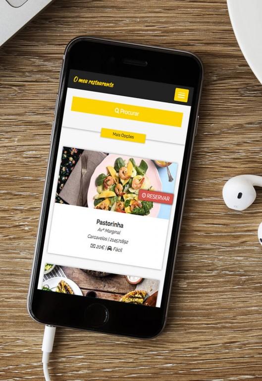 portfolio 14/19  - Aplicação Mobile - O meu restaurante.pt