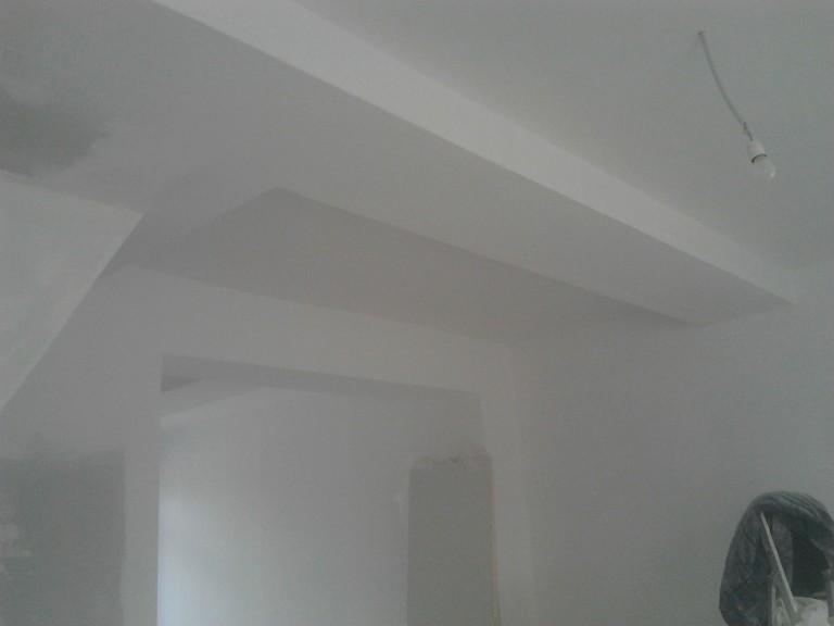 portfolio 37/43  - vigas em madeira e tectos  forrados em pladur - belgica