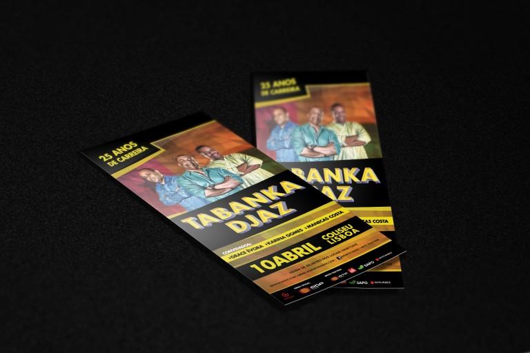 portfolio 24/25  - Flyers para concerto de Tabanka Djazz