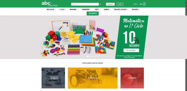 portfolio 4/5  - Loja Online - ABC ESCOLAR