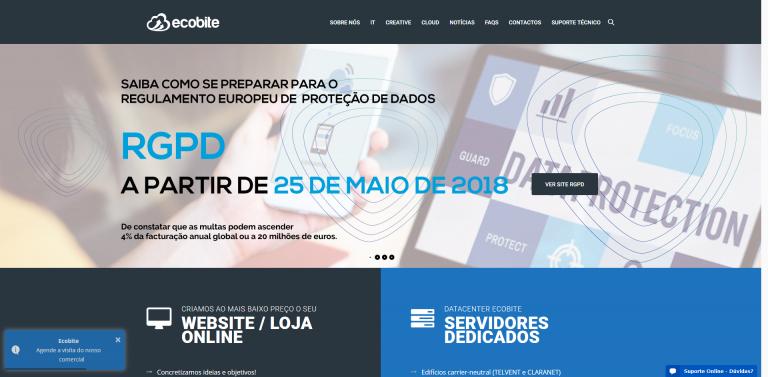 portfolio 3/5  - Site Institucional - Ecobite