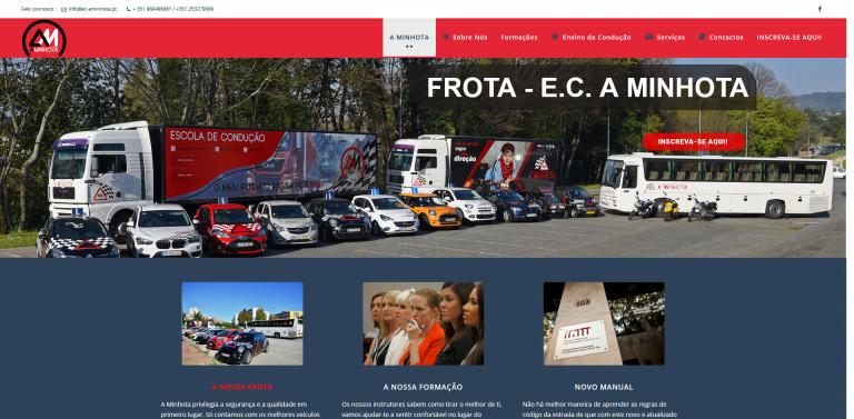 portfolio 2/5  - Site Institucional - A Minhota