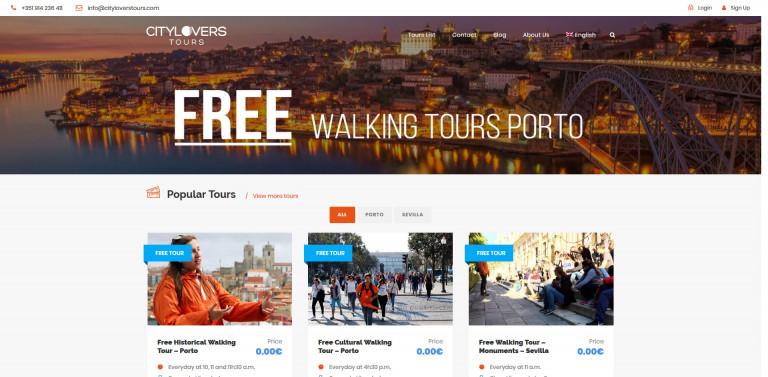 portfolio 1/5  - Booking website - CityLovers Tours