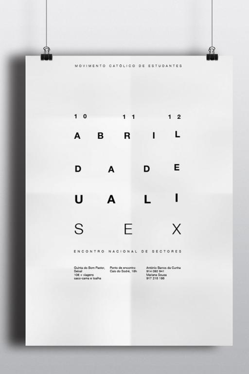 """portfolio 4/7  - Poster para um encontro de jovens com o tema """"Sexualidade"""", que transmite a máxima """"só vês o que queres ver"""""""