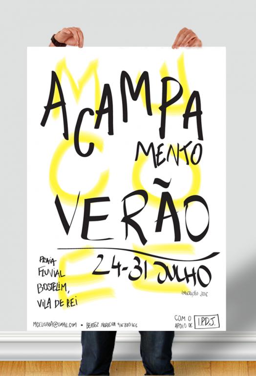 portfolio 5/7  - Poster para acampamento de Verão do Movimento Católico de Estudantes