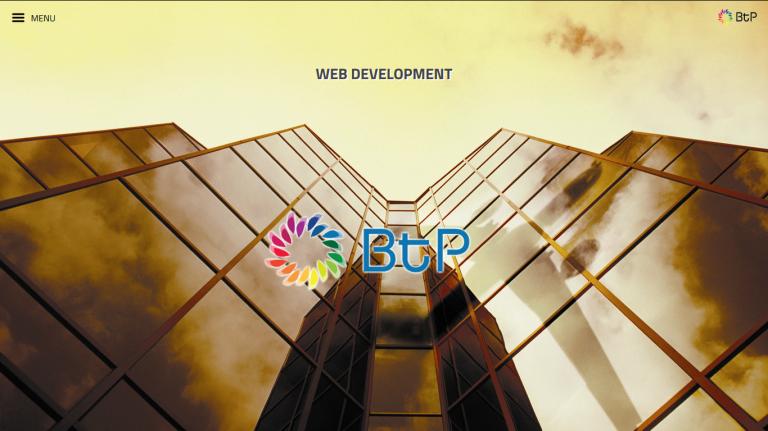 portfolio 4/7  - Website Desenvolvido para a Empresa - BtP