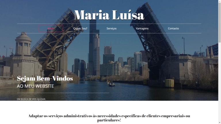portfolio 1/7  - Website Desenvolvido para Cliente - Maria Luísa