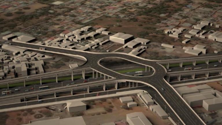 portfolio 6/7  - 3D em Autocad de avenida principal em Luanda